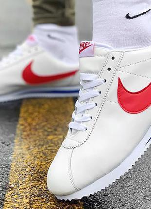 Мужские кроссовки nike classic cortez leather white