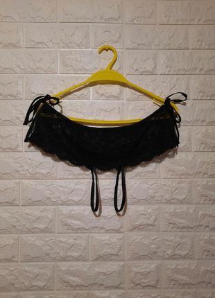 Чёрные трусики на завязках, эротическое бельё