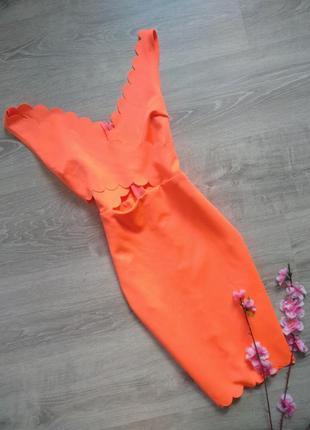 Яркое неоновое платье missguided