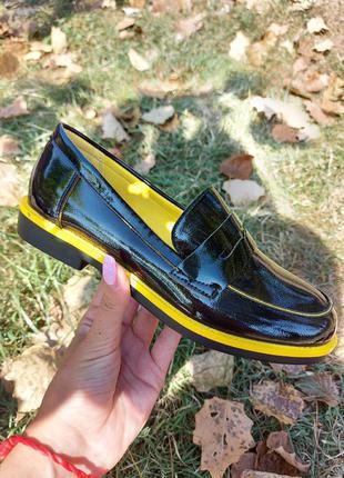 Мягкие деми туфли 🌿 броги женские весна лоферы жіночі туфлі низкий ход балетки