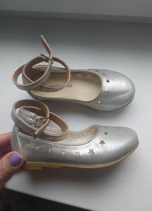 Кожаные туфли на девочку 24р