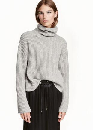 Шерстяной свитер,гольф,кашемир,wool blend h&m,36/s