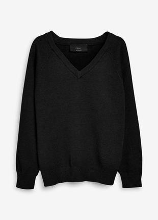 Кофта полувер свитерок черный осений