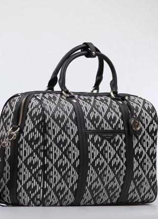 Дорожная кожаная сумка саквояж henri bendel