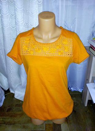 Качественная блуза-футболка 100% хлопок шри-ланка xs(42) - s(44)