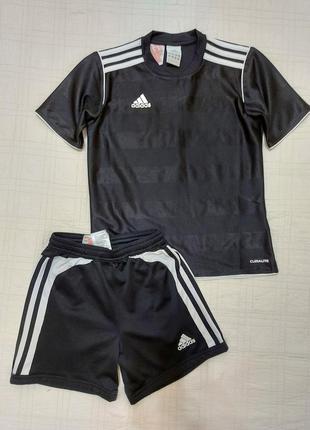 Оригинал/спортивная форма/тренировочная/шорты+футболка adidas р.134-140/филиппины