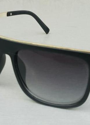 Louis vuitton очки мужские солнцезащитные черные с золотом градиент