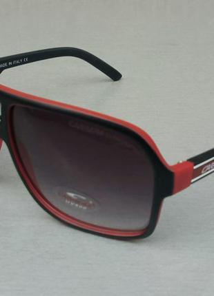 Carrera очки унисекс солнцезащитные черные с красным с градиентом