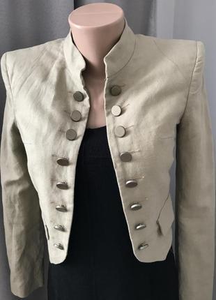Льняной пиджак, джемпер guess
