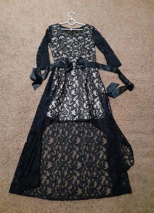 Вечірнє плаття 42-44розмір темно синього кольору