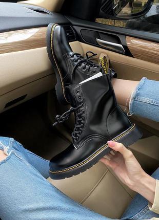 Шикарные ботинки dr. martens 1460 black чёрные осенняя обувь