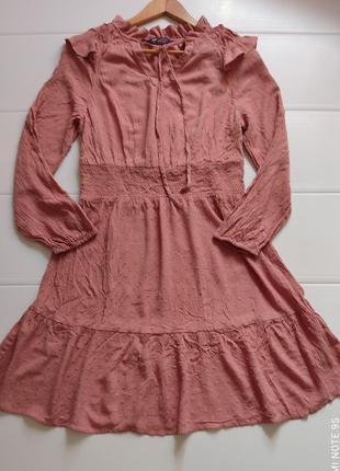 Натуральное вискозное платье на резинке