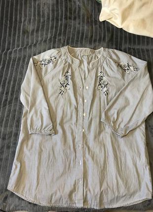 Блуза, рубашка с вышивкой