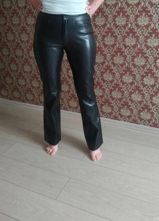 Штани брюки кожа