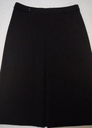Черная юбка миди трапеция