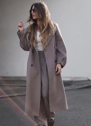 Zara пальто оверсайс, xs, s