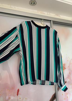Блузка-кофта у смужку