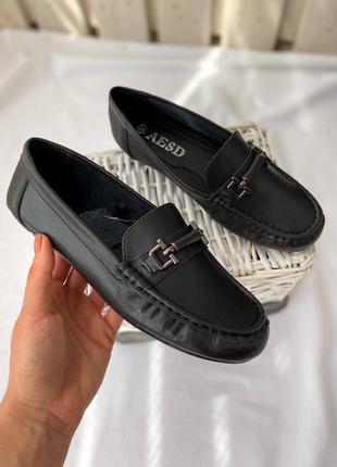 🔥sale🔥 чёрные кожаные туфли мокасины 💣