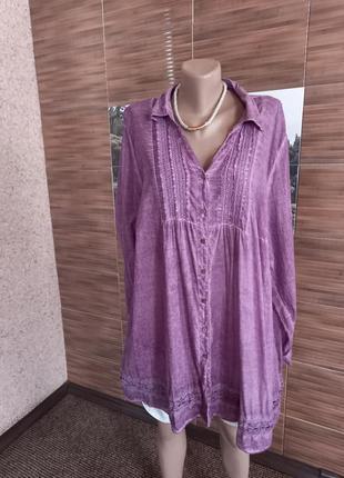 100% каттон.легкая красивая блузка ulla popken