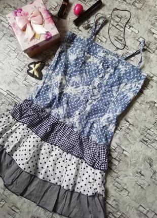 Сарафан платье летнее в горошек