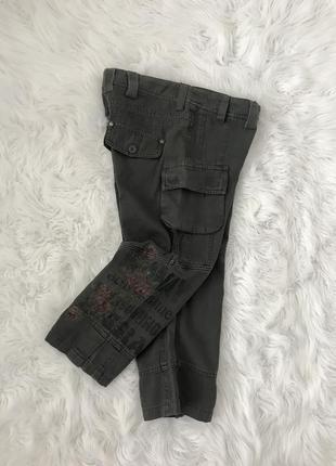 Стильные шорты капри с вышивкой xs/s broadway германия 🇩🇪