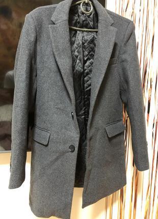 Пиджак оверсайз серый шерстяной удлиненный тренд осени
