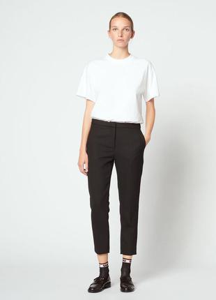Стильные классические женские брюки на осень черные женские брюки классика укороченные женские брюки демисезонные женские брюки черного цвета