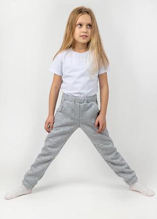 Дитячі теплі штани, сірий