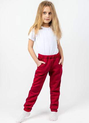 Дитячі теплі штани, червоні