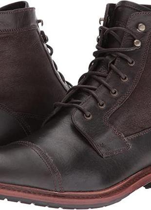 Ботинки trask lowell shearling dark brown размер 42