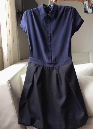 Maje аккуратное платье шерсть шелк