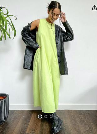 Новое мега крутое лимонное платье