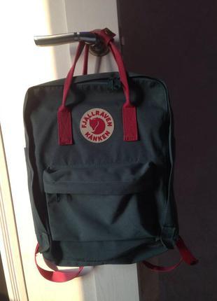 Зеленый рюкзак fjallraven kanken 16 л
