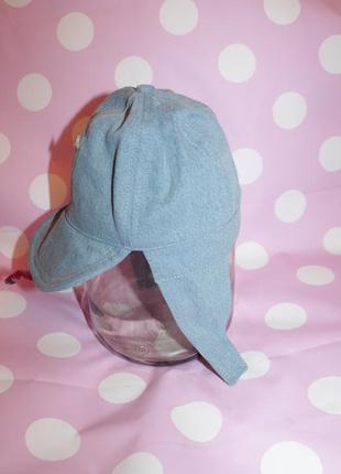 Джинсовая шапка с козырьком р 46-48