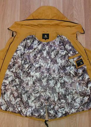 Модная демисезонная курточка-парка горчичного цвета olanmear collection4