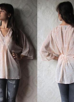 Летняя шифоновая блуза h&m наш 46 размер