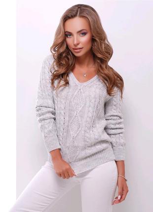 Пуловер светло- серый marse.