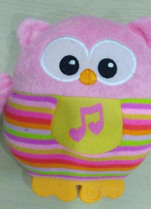 Мягкий музыкальный ночник fisher-price сова