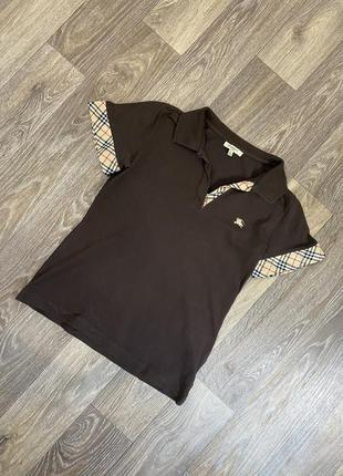 Женская премиальная лакшери футболка burberry поло