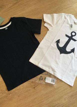 Набор футболок н&м, 4-6y, 100% cotton