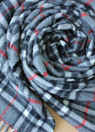 Шикарный шерстяной шарф uomo duca, италия