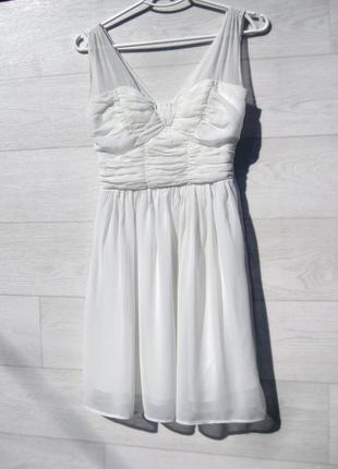 Красивое нежное платье белое atmosphere шифонове нарядное