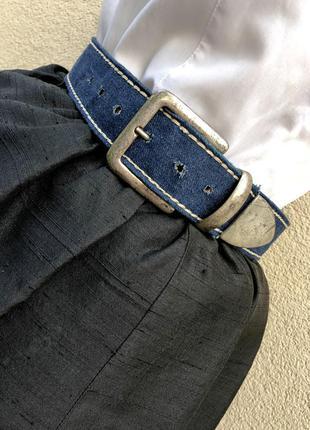 Винтажный джинсовый кожаный пояс ремень франция