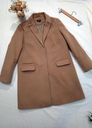 Фирменное демисезонное женское пальто-миди topshop