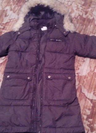 Куртка -парка зимняя на 9-11лет-девочка