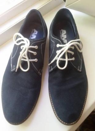 Туфли натуральная кожа замша (на стопу 28-28,5 см) 43р-р германия