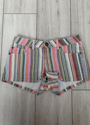 Короткие/летние/шорты/в полоску/джинсовые