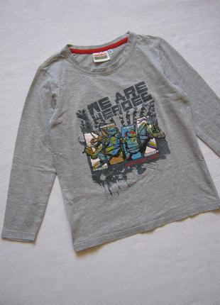 Хлопковый лонгслив / футболка с длинным рукавом, черепашки ниндзя
