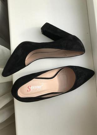 Шикарные туфли натуральный замш