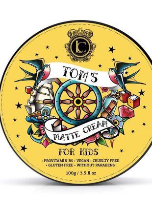 Детская матовая паста для стайлинга волос lavish сare kids pomade - tom's matte cream 100 г